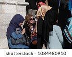 pro palestinian activists... | Shutterstock . vector #1084480910
