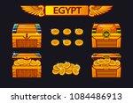 vector egypt antique treasure... | Shutterstock .eps vector #1084486913