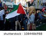pro palestinian activists... | Shutterstock . vector #1084486988