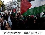 pro palestinian activists... | Shutterstock . vector #1084487528