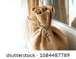 vintage object  sack cloth bag... | Shutterstock . vector #1084487789