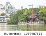 ngoc son  historic  temple in... | Shutterstock . vector #1084487813