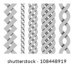 collection of metal vector... | Shutterstock .eps vector #108448919