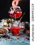 process brewing tea tea... | Shutterstock . vector #1084491119