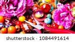 beads  colorful beads for... | Shutterstock . vector #1084491614