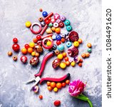 beads  colorful beads for... | Shutterstock . vector #1084491620