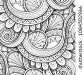 monochrome seamless pattern... | Shutterstock .eps vector #1084502966