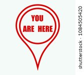 marker location icon with you... | Shutterstock .eps vector #1084505420