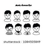 set of doodle men icons.... | Shutterstock .eps vector #1084505849