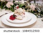 vanilla and strawberry cake... | Shutterstock . vector #1084512503
