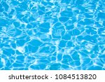 Surface Of Blue Swimming Pool ...