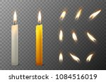 vector 3d realistic white and... | Shutterstock .eps vector #1084516019