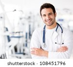 friendly male doctor at the gym ... | Shutterstock . vector #108451796