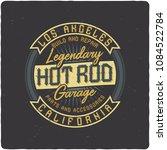 vintage label design with... | Shutterstock .eps vector #1084522784