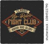 vintage label design with... | Shutterstock .eps vector #1084522790