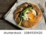 summer galette with tomatoes ... | Shutterstock . vector #1084535420