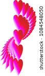 a row of hearts fanned out in a ... | Shutterstock .eps vector #1084548050