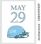a postcard by may 29 is the... | Shutterstock .eps vector #1084549409