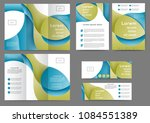 set of color abstract brochure... | Shutterstock .eps vector #1084551389