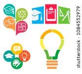 logos of educational centers on ... | Shutterstock .eps vector #1084552979