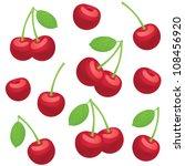 fruits vector seamless... | Shutterstock .eps vector #108456920