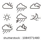 weather report icons | Shutterstock .eps vector #1084571480