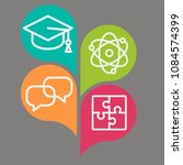 colorful icons for education on ... | Shutterstock .eps vector #1084574399