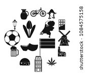 Netherlands Icons Set In Simpl...