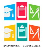 multicolored icons  compass ... | Shutterstock .eps vector #1084576016