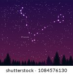 night sky with pisces... | Shutterstock .eps vector #1084576130