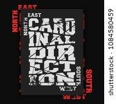 cardinal direction vintage... | Shutterstock .eps vector #1084580459