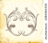 retro baroque decorations... | Shutterstock .eps vector #1084581920