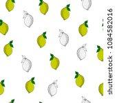 seamless pattern with lemons.... | Shutterstock .eps vector #1084582016