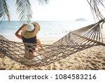 summer vacations concept  happy ... | Shutterstock . vector #1084583216