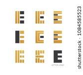 set of letter e logo design  | Shutterstock .eps vector #1084585523