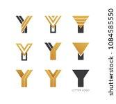 set of letter y logo design  | Shutterstock .eps vector #1084585550