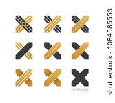 set of letter x logo design  | Shutterstock .eps vector #1084585553