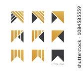 set of letter w logo design  | Shutterstock .eps vector #1084585559