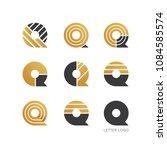set of letter q logo design    Shutterstock .eps vector #1084585574