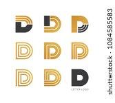 set of letter d logo design  | Shutterstock .eps vector #1084585583