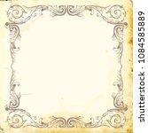 retro baroque decorations... | Shutterstock .eps vector #1084585889