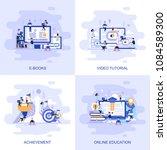 modern flat concept web banner... | Shutterstock .eps vector #1084589300