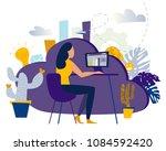 creative illustration of... | Shutterstock . vector #1084592420