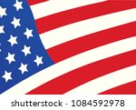 american flag cover design... | Shutterstock .eps vector #1084592978