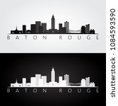 baton rouge usa skyline and... | Shutterstock .eps vector #1084593590