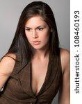 beautiful contemplative woman | Shutterstock . vector #108460193