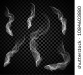 steam smoke set isolated on... | Shutterstock .eps vector #1084603880