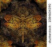 seamless pattern   exquisite... | Shutterstock .eps vector #1084604390