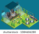 vector illustrtion of open air... | Shutterstock .eps vector #1084606280