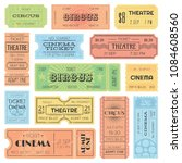 theater or cinema admit one... | Shutterstock .eps vector #1084608560